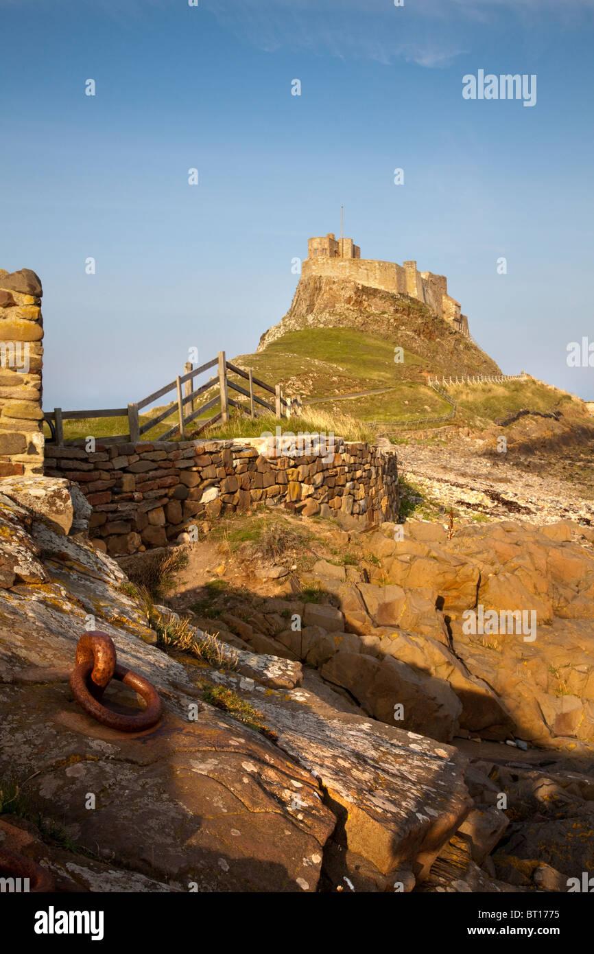 Lindisfarne Castle, Lindisfarne Island, Northumberland, England, UK, GB. - Stock Image