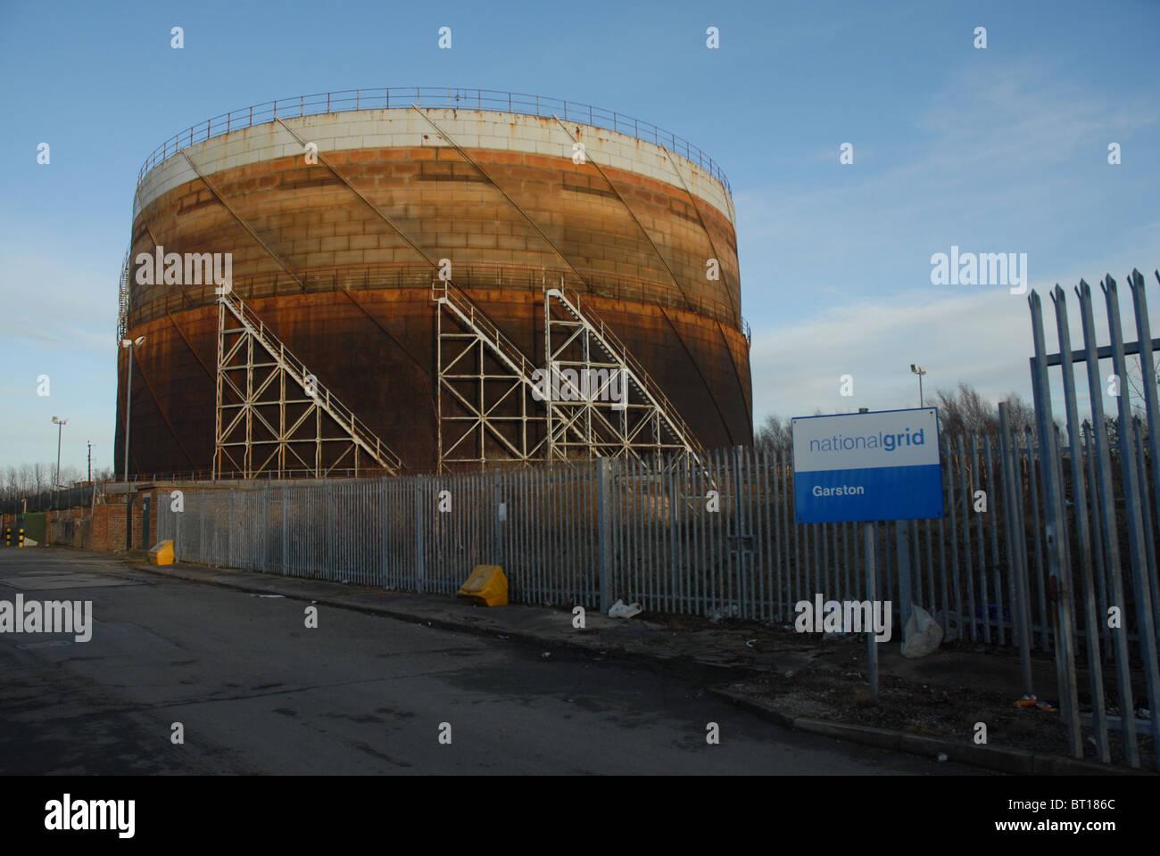 Garston Gas Works, south Liverpool, Merseyside, England, UK. - Stock Image