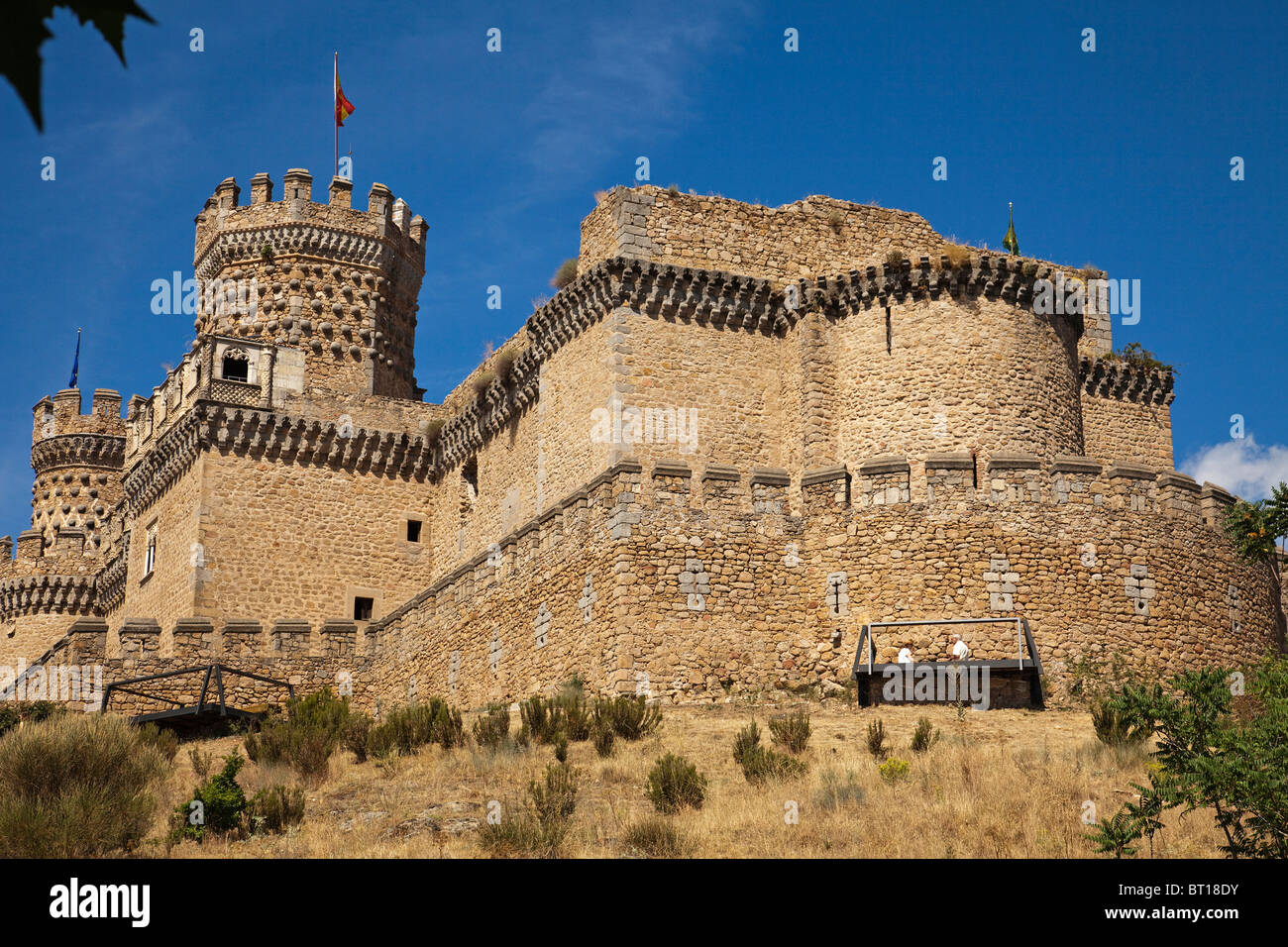 Castillo de los Mendoza en Manzanares El Real Madrid España Mendoza castle Manzanares El Real Madrid Spain Stock Photo