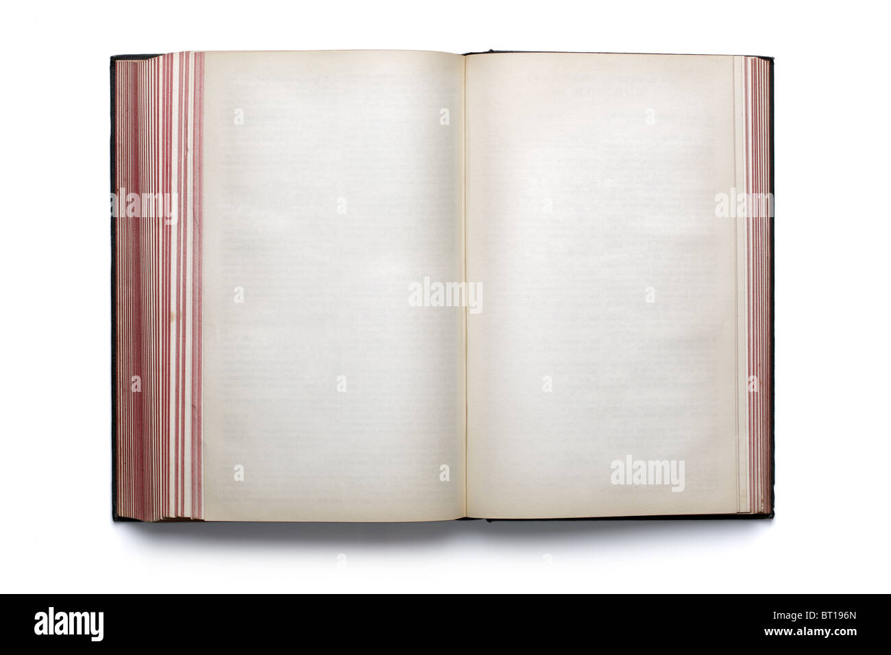 Blank open hardback book - Stock Image