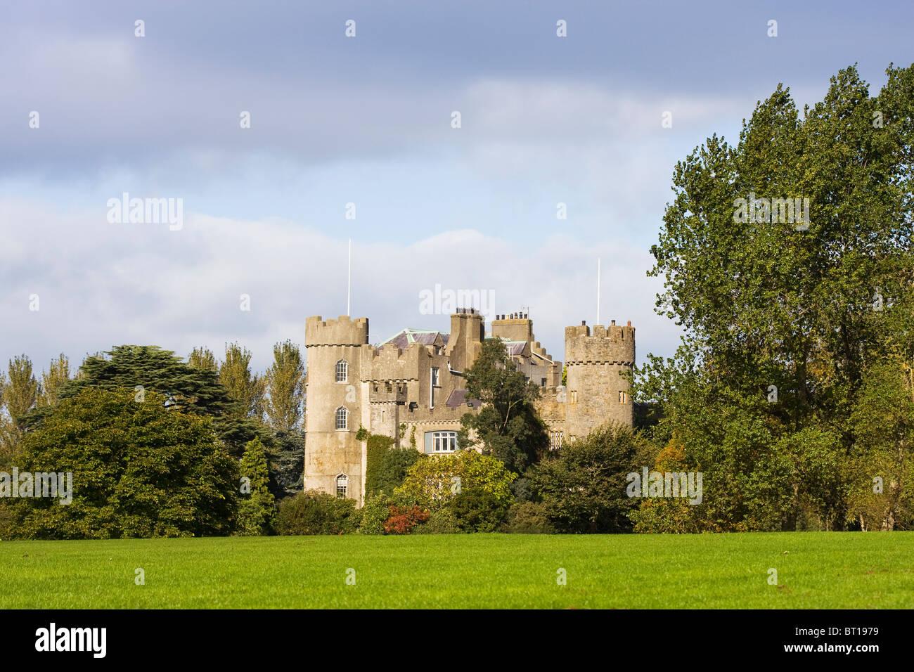 Malahide Castle in Dublin, Ireland. - Stock Image