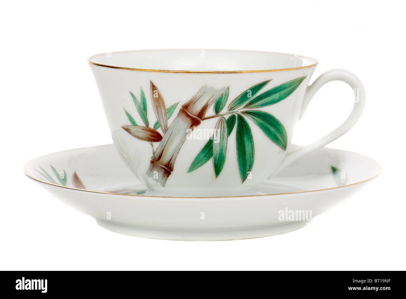 1930's Japanese Noritake RC (Royal Crockery) cup and saucer - Stock Image