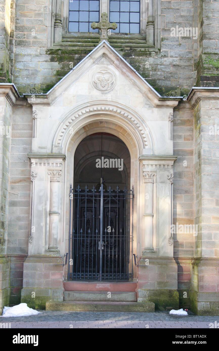 Church gate - Stock Image