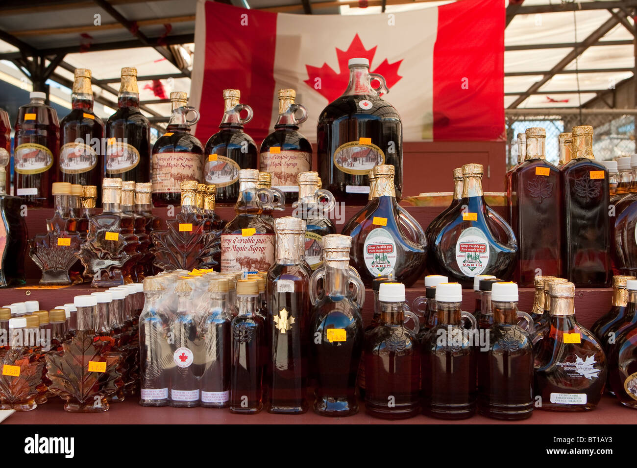 Various maple product In Ottawa ByWard market - Stock Image