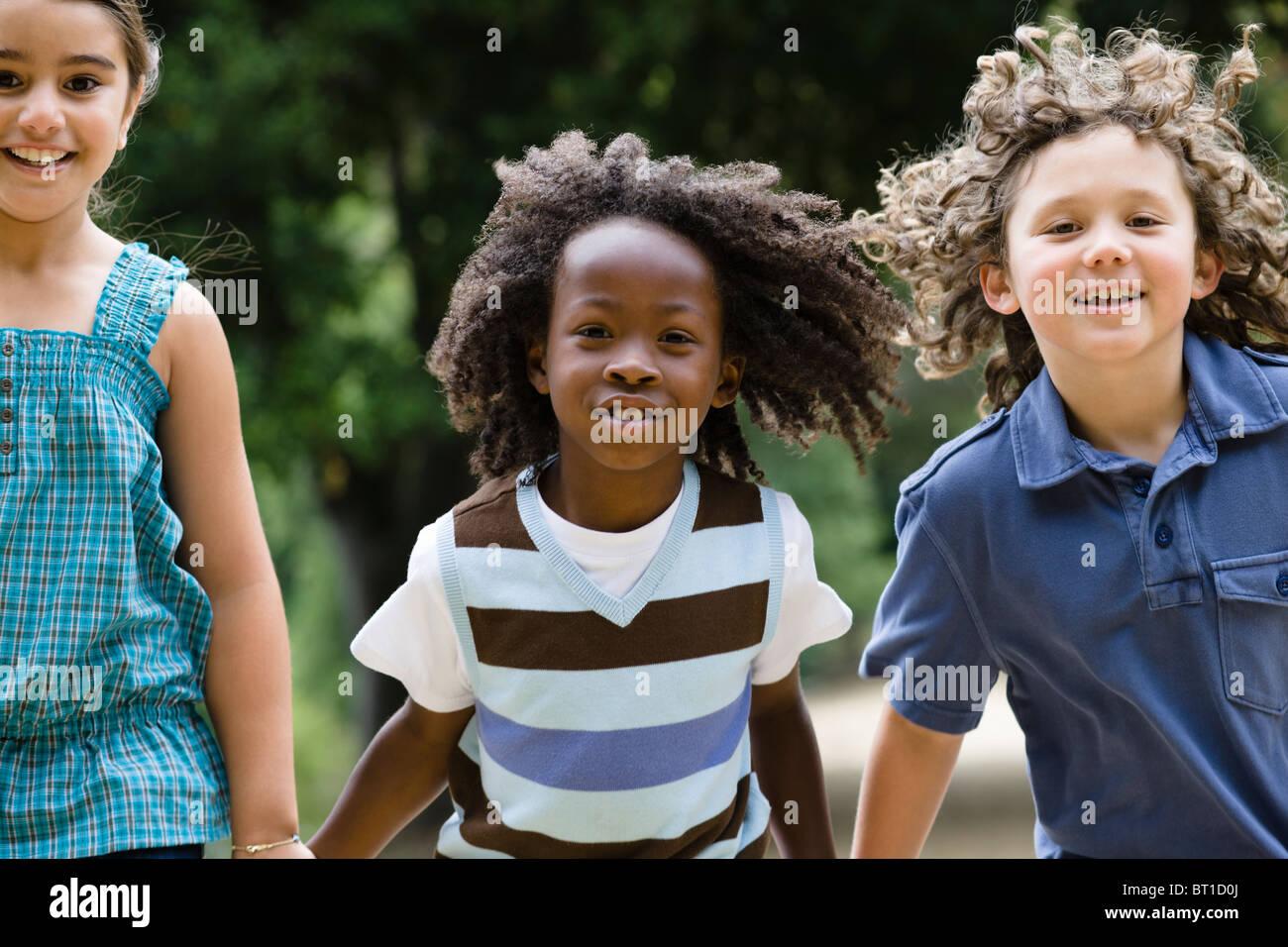 Holdings kids smile