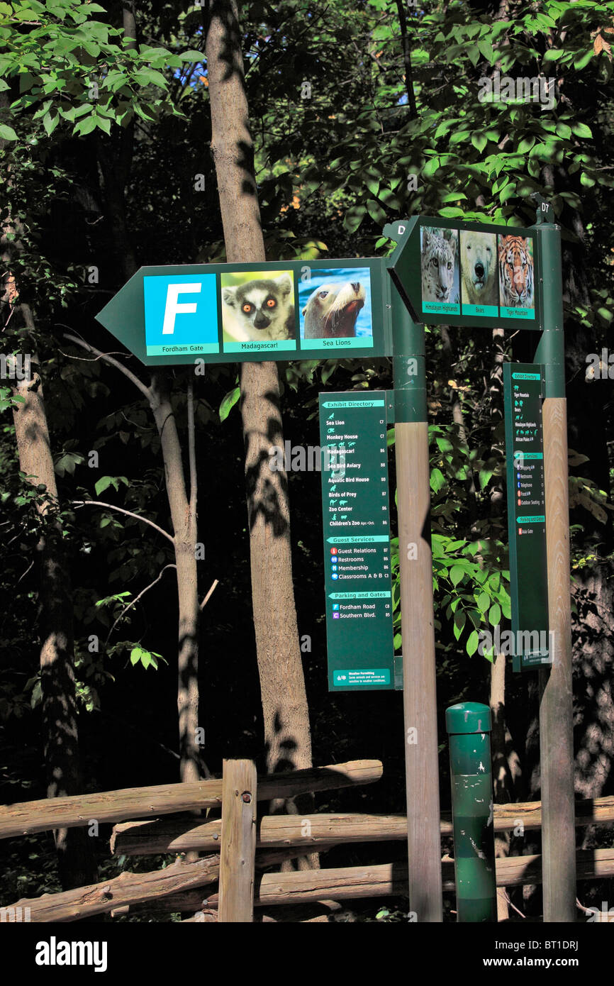 Signs Pointing The Direction To Various Exhibits And Other Places At