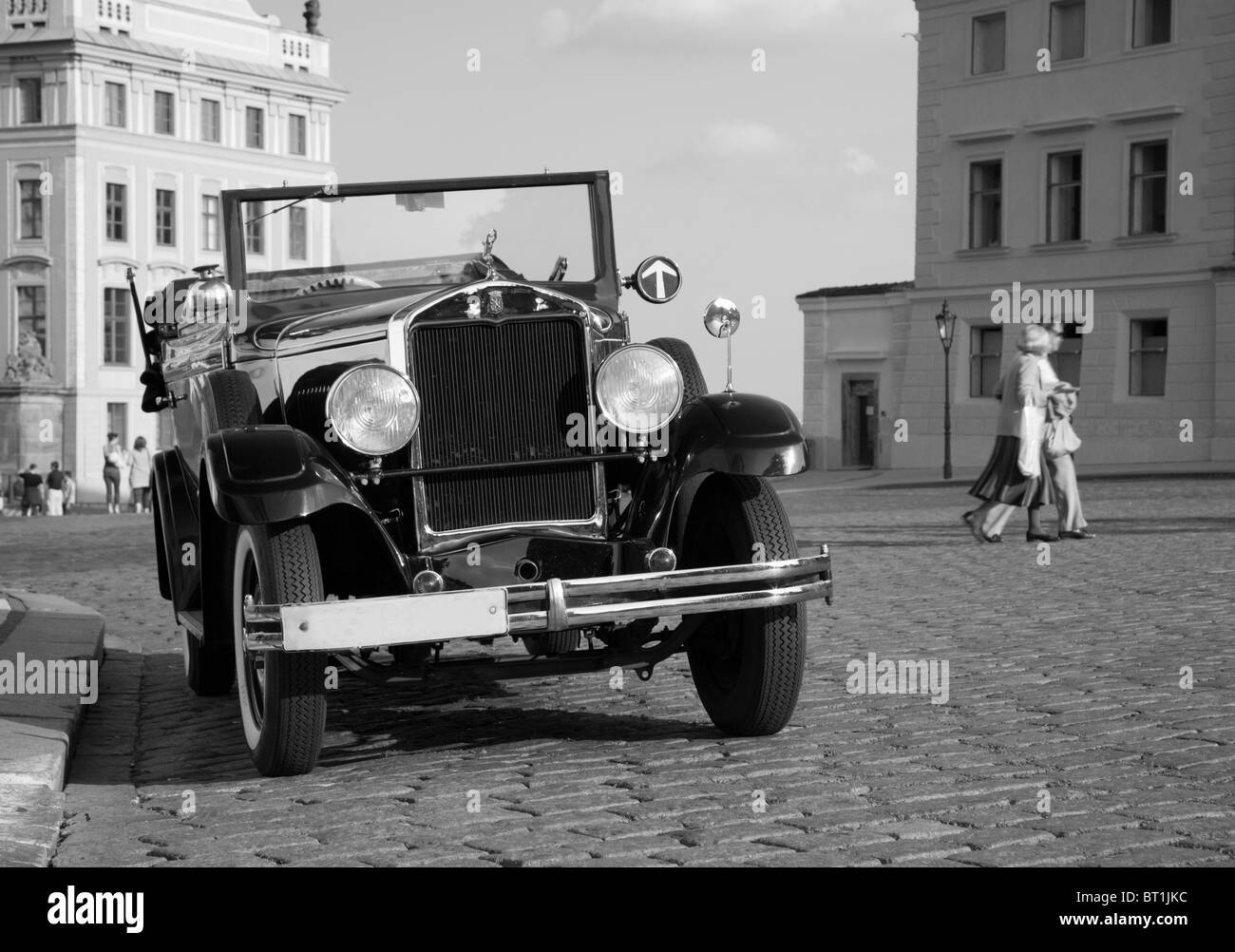 Prague - veteran taxi - Stock Image