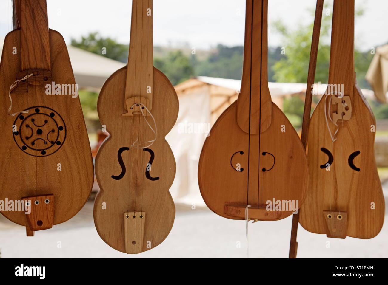 Rabel instrumento musical pasiego Cantabria España Rabel musical instrument pasiego Cantabria Spain - Stock Image