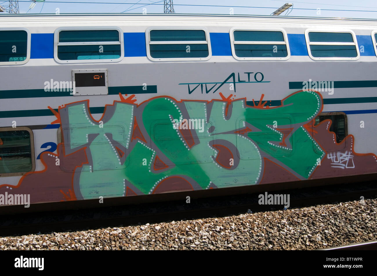 Graffiti Art Artist Street Tag Tags Tagging Tagged Spray Paint Painted On A Train Carriage Carriages Trains Covered In Vandal Va
