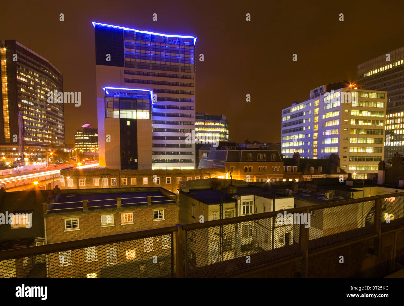 Central Croydon Surrey England At Night - Stock Image