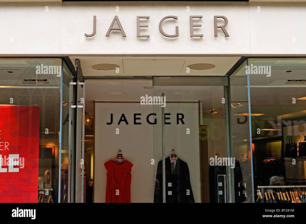 Jaeger Clothes Shop, Oxford, UK. - Stock Image