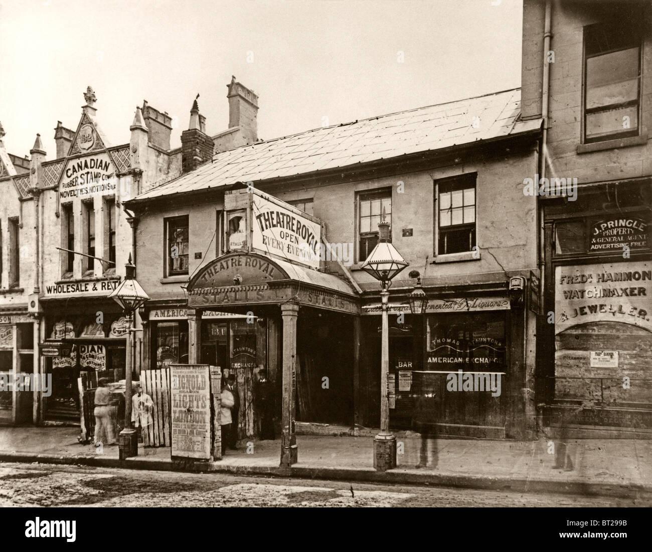 The Theatre Royal, King Street, Sydney, NSW, Australia c. 1880 - Stock Image
