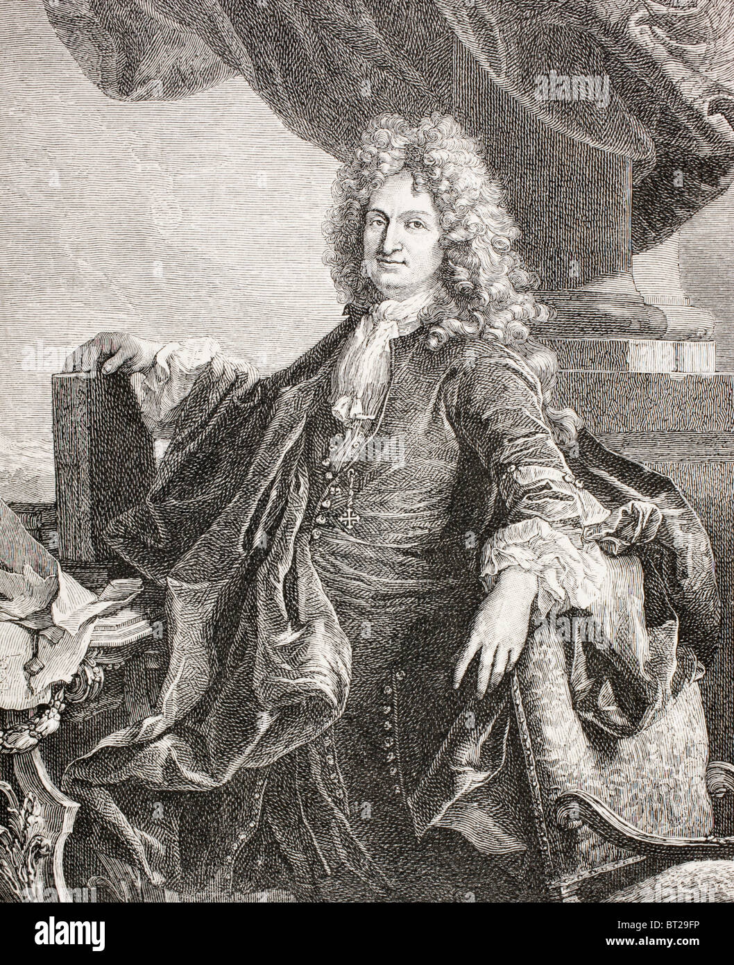 Charles-René d'Hozier, 1640 – 1732. French historical commentator. Stock Photo