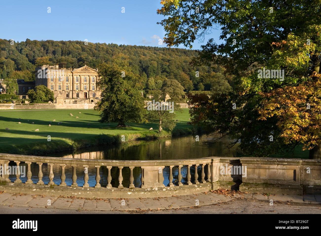 Chatsworth House, Derbyshire, England, UK - Stock Image