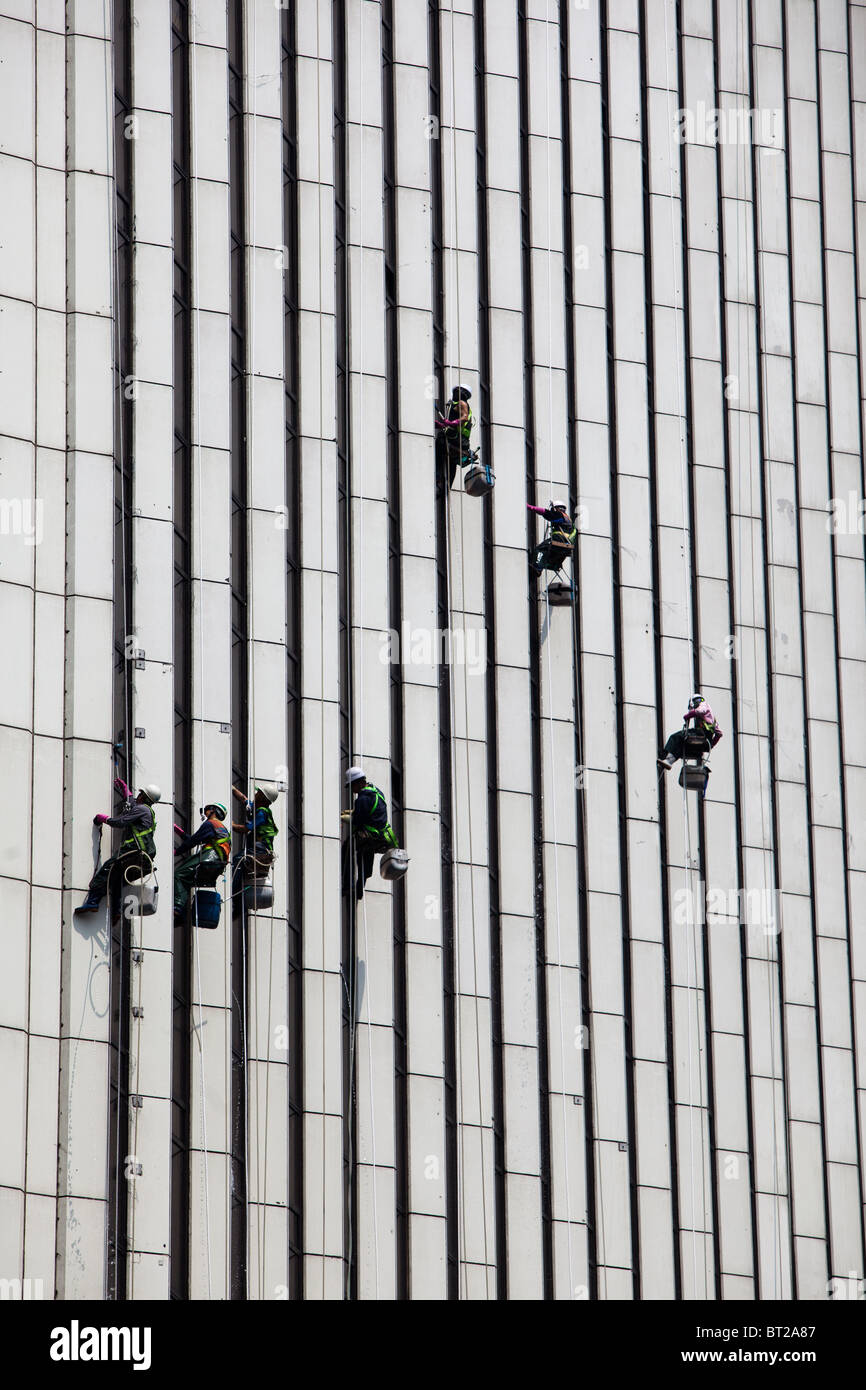 Window washers. - Stock Image