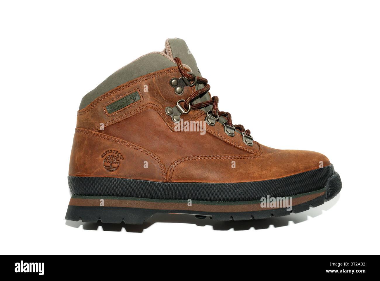 8d57aaf8957 timberland boys nubuck leather walking boots Stock Photo: 32014166 ...