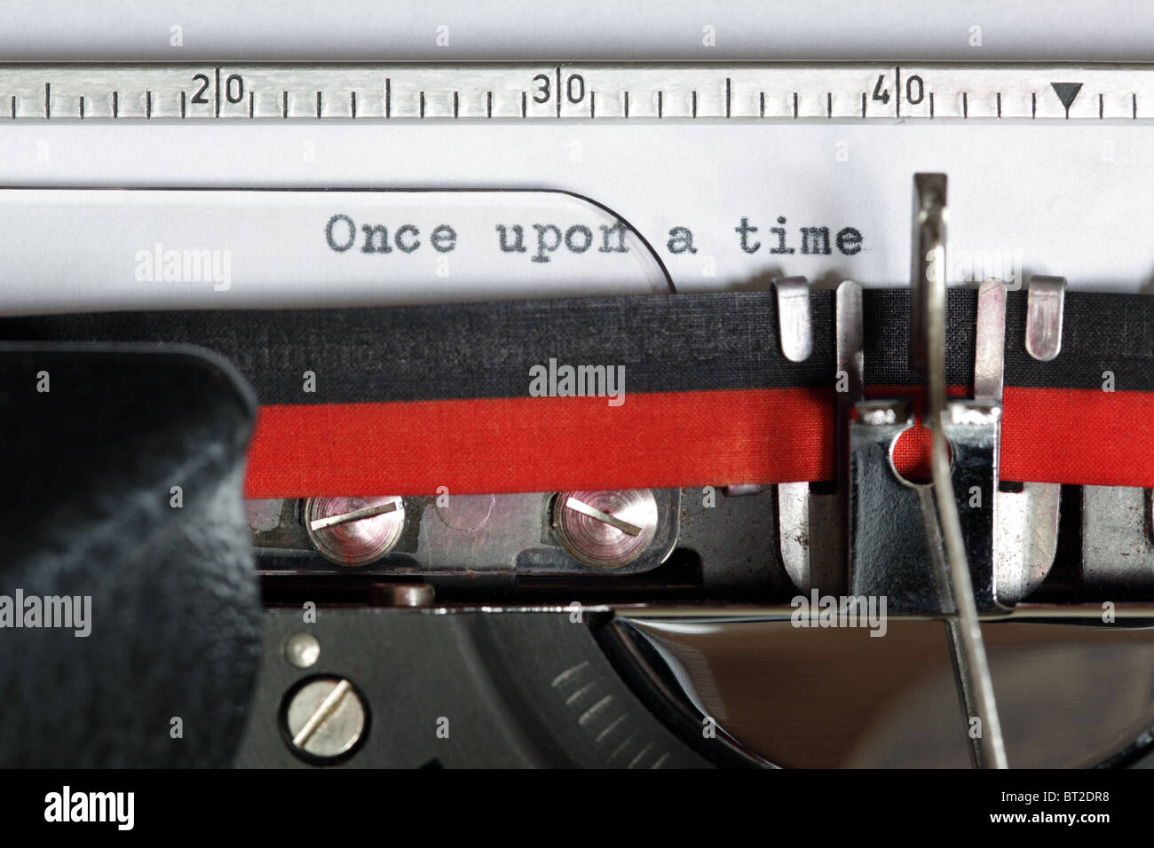 Typewriter - Once upon a time - Stock Image