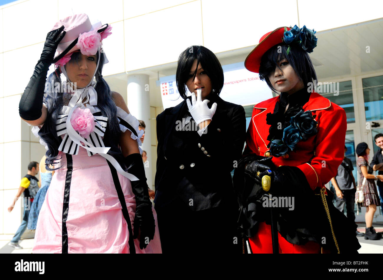 Group of cosplayers - Stock Image