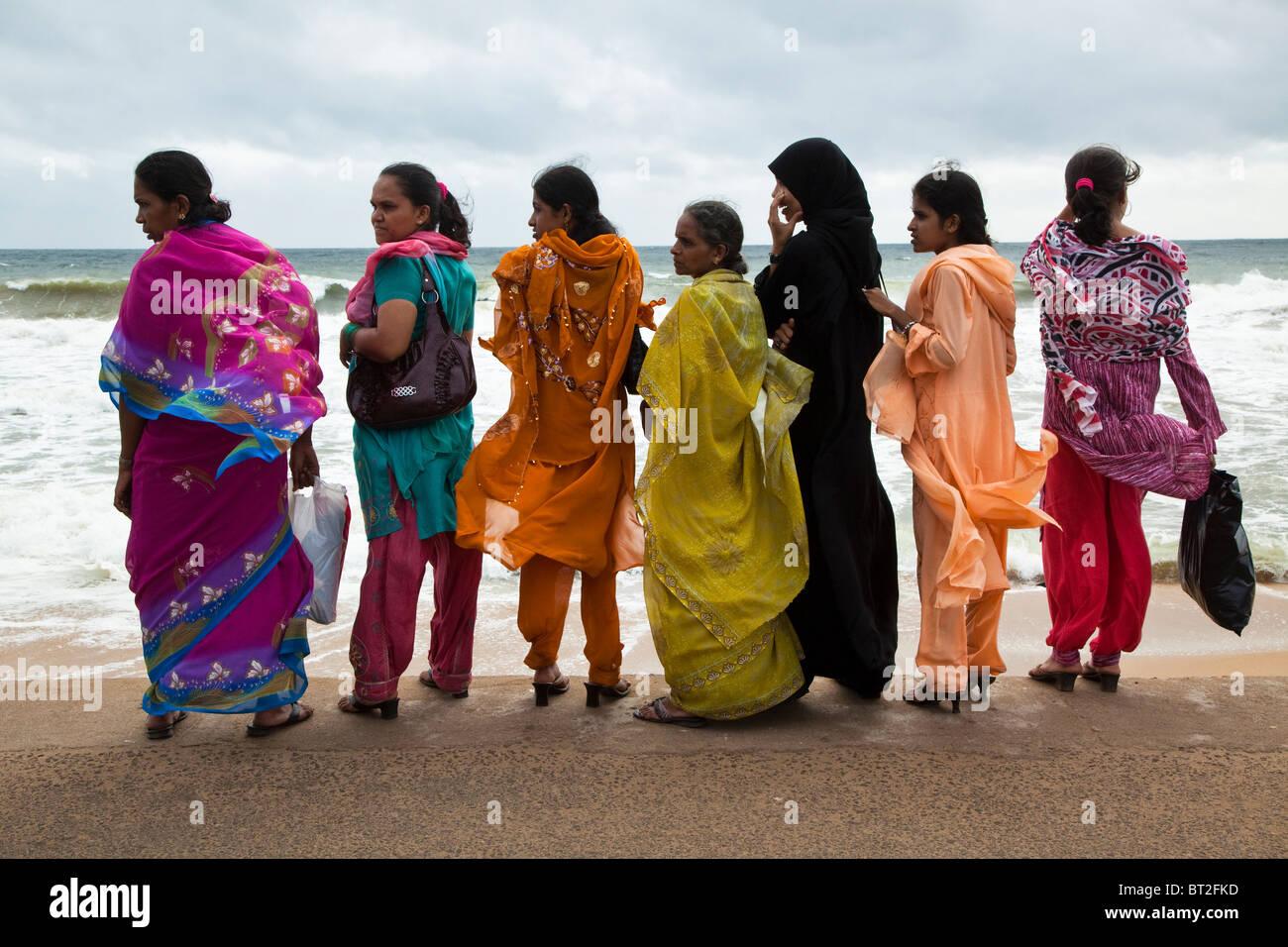 Sri Lankan Saris - Stock Image