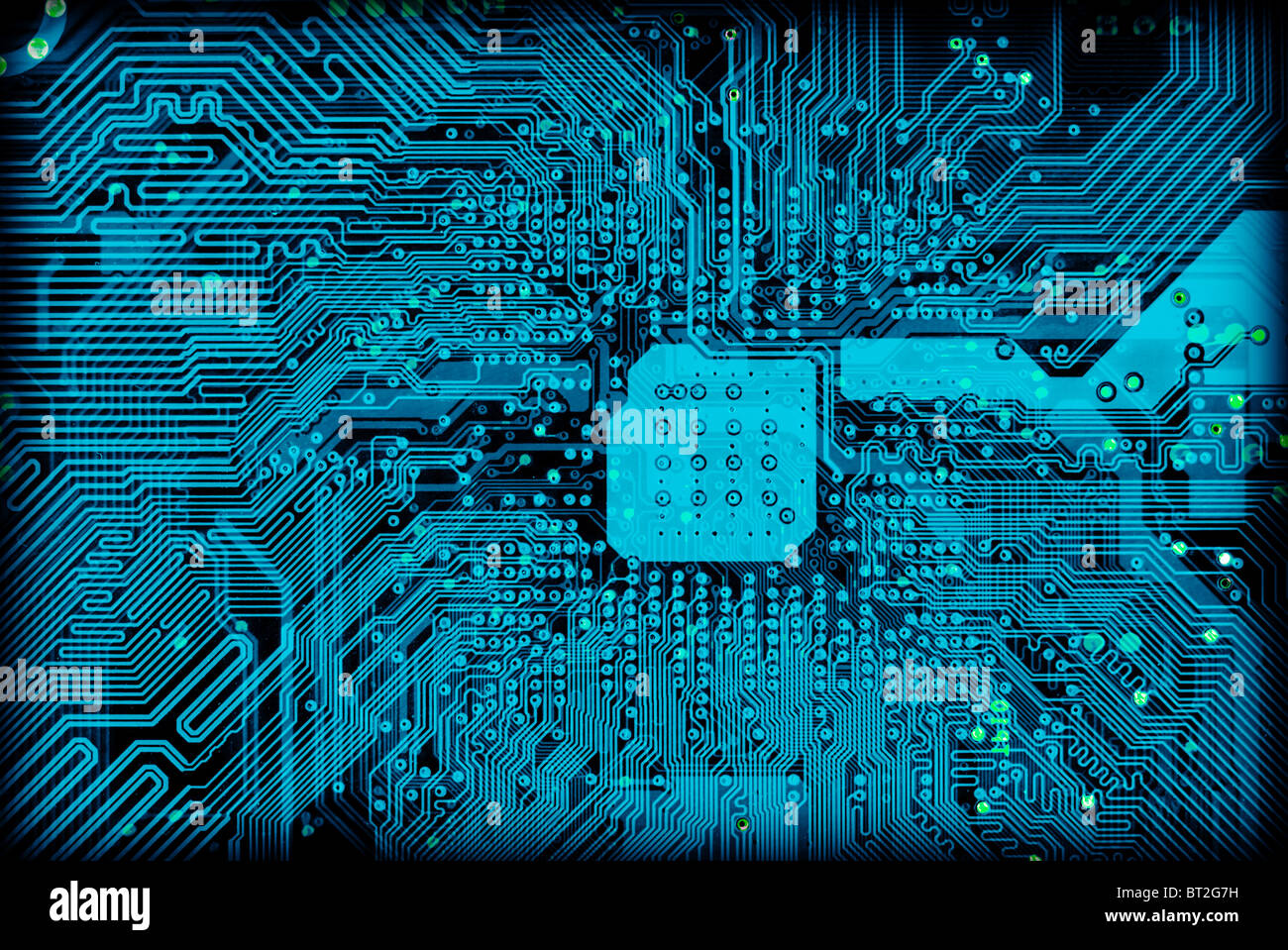 Tech industrial electronic blue background texture - Stock Image