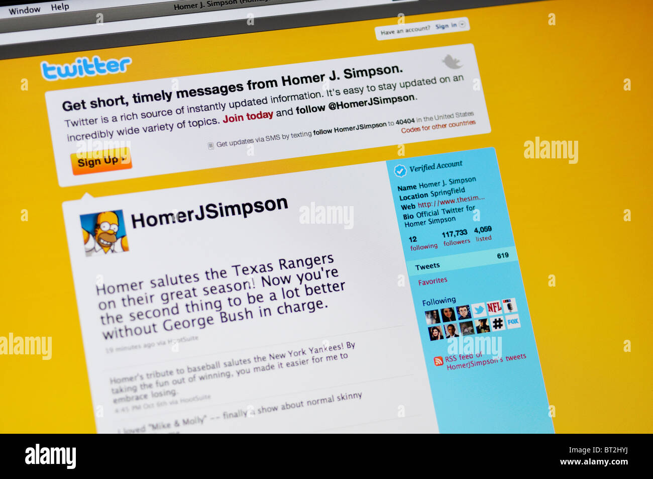 Twitter website Stock Photo: 32020118 - Alamy