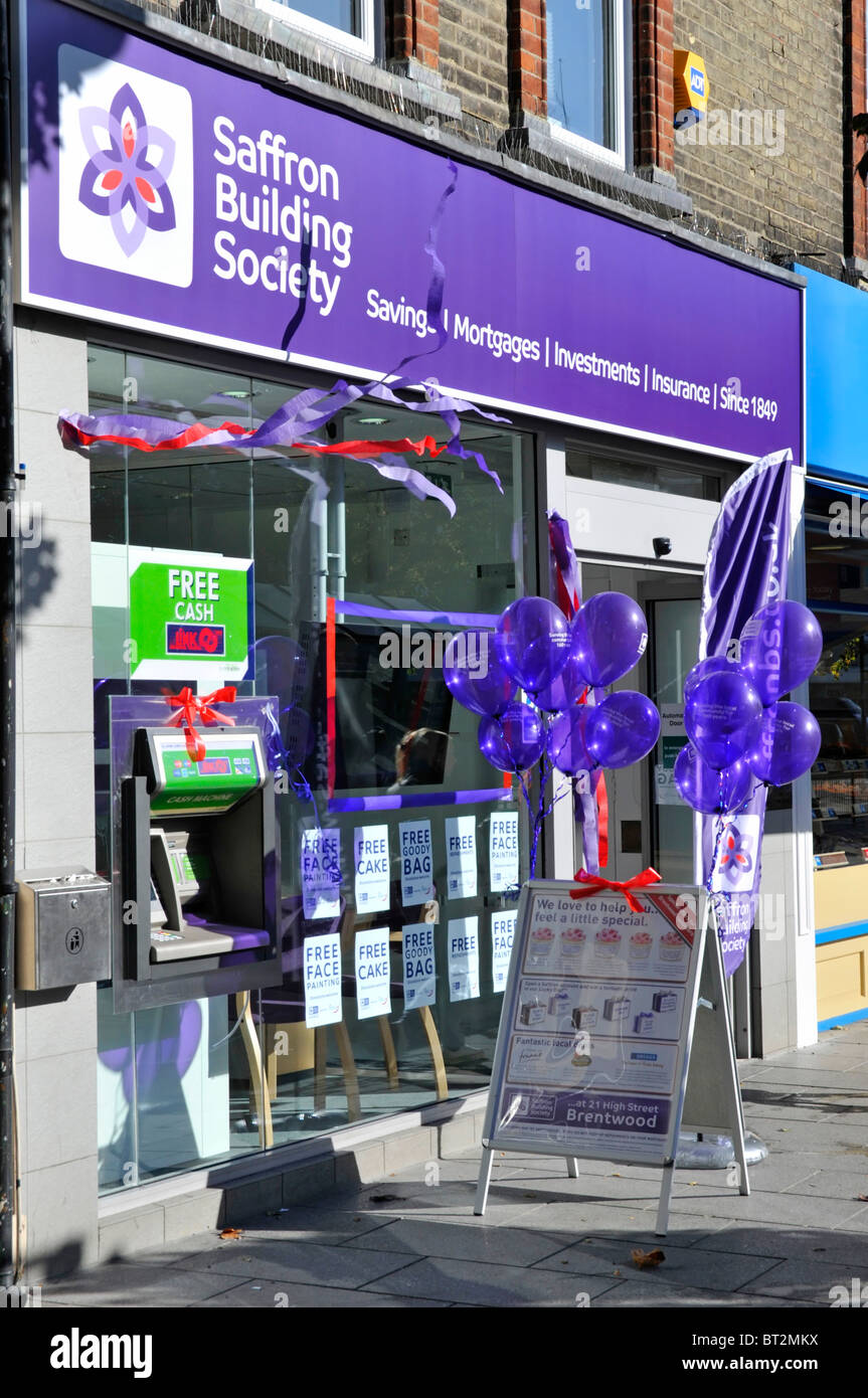 Saffron Building Society branch premises opening event Stock Photo