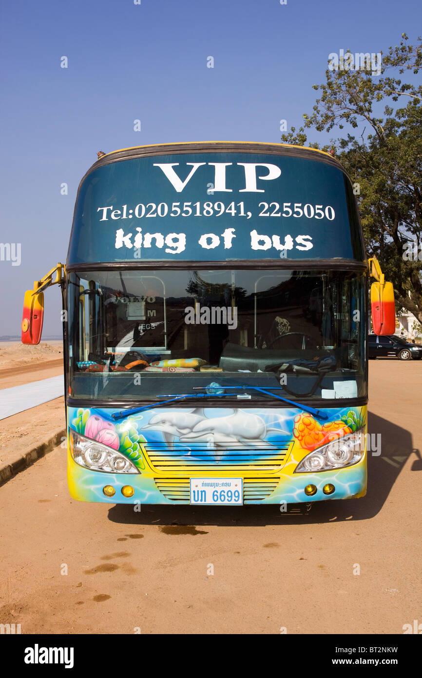 VIP Bus Vientiane Laos - Stock Image