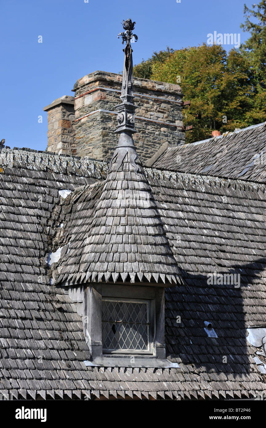 Wooden Roof Tiles Of Medieval House At The Mont Saint