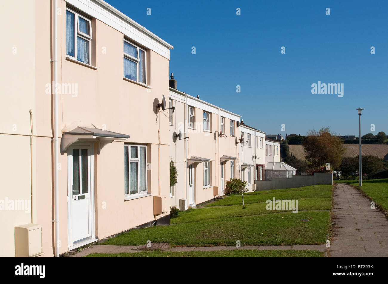 council housing in redruth, cornwall, uk - Stock Image
