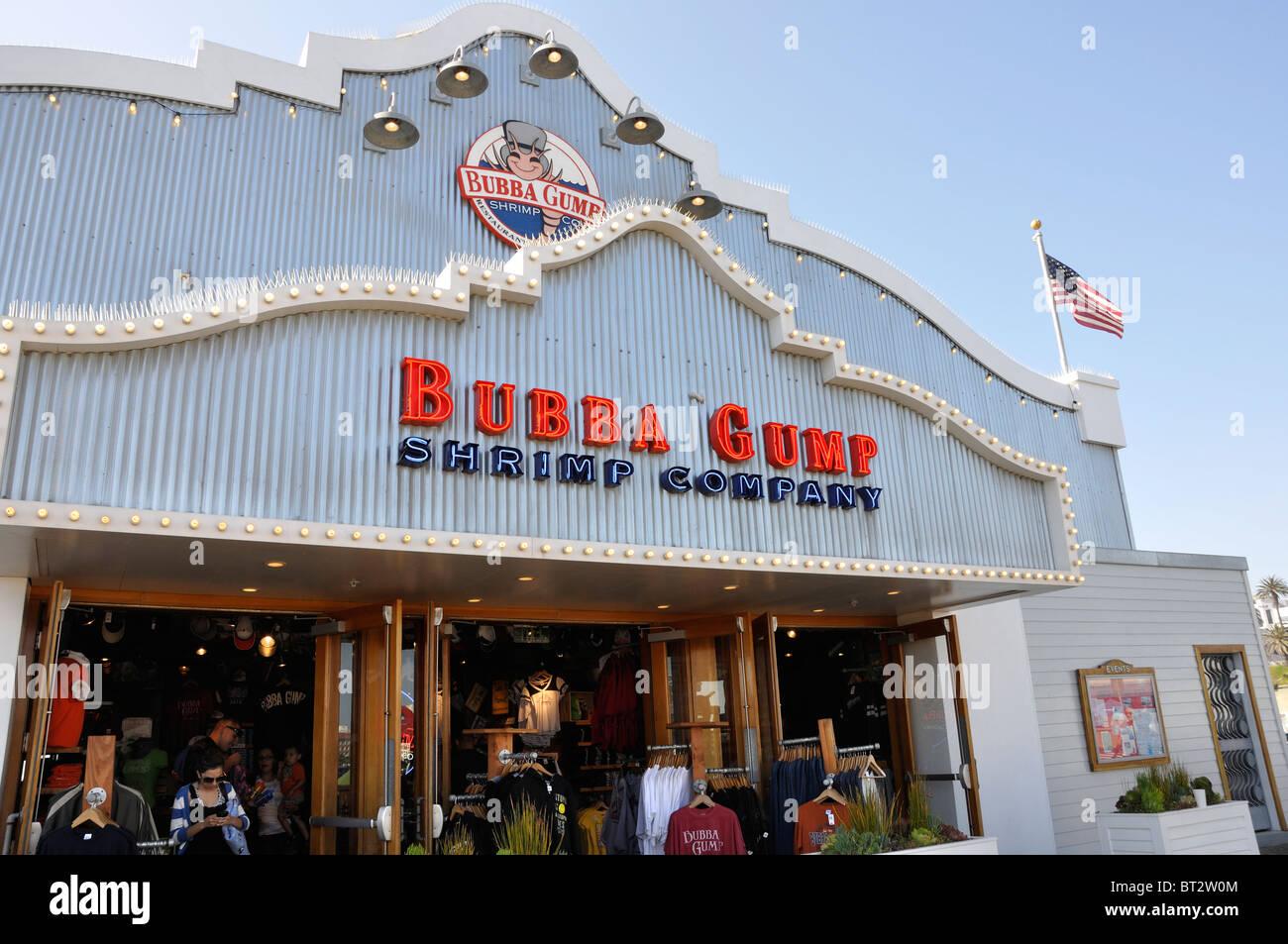 Bubba Gump Restaurant Santa Monica Pier California Usa Stock