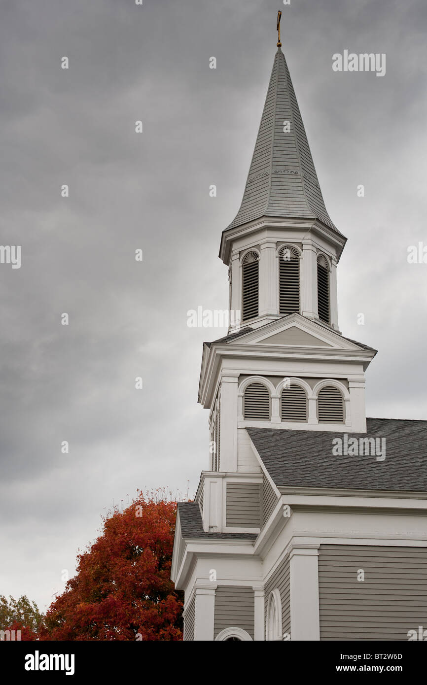 Fall Colors by Church - Stock Image