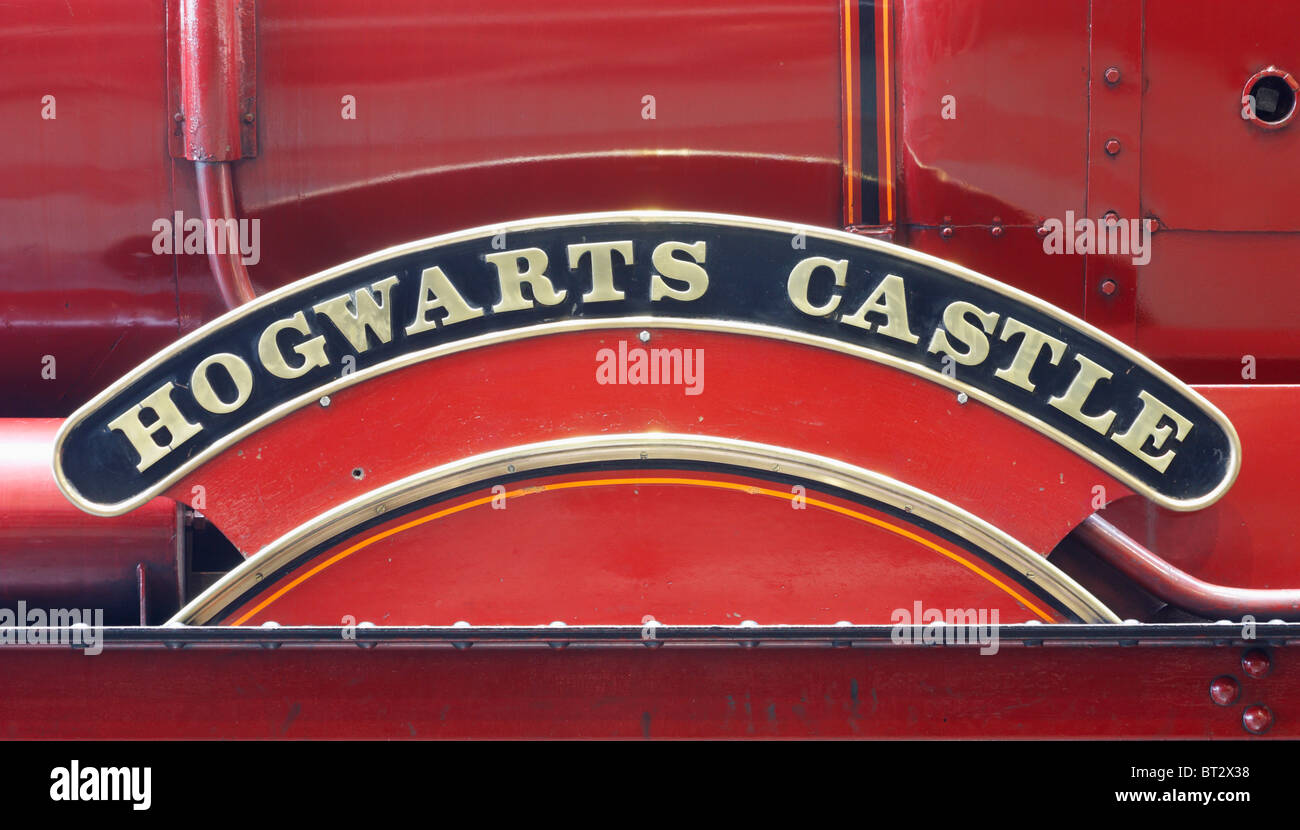 Hogwarts Express steam train used in Harry Potter films - Stock Image