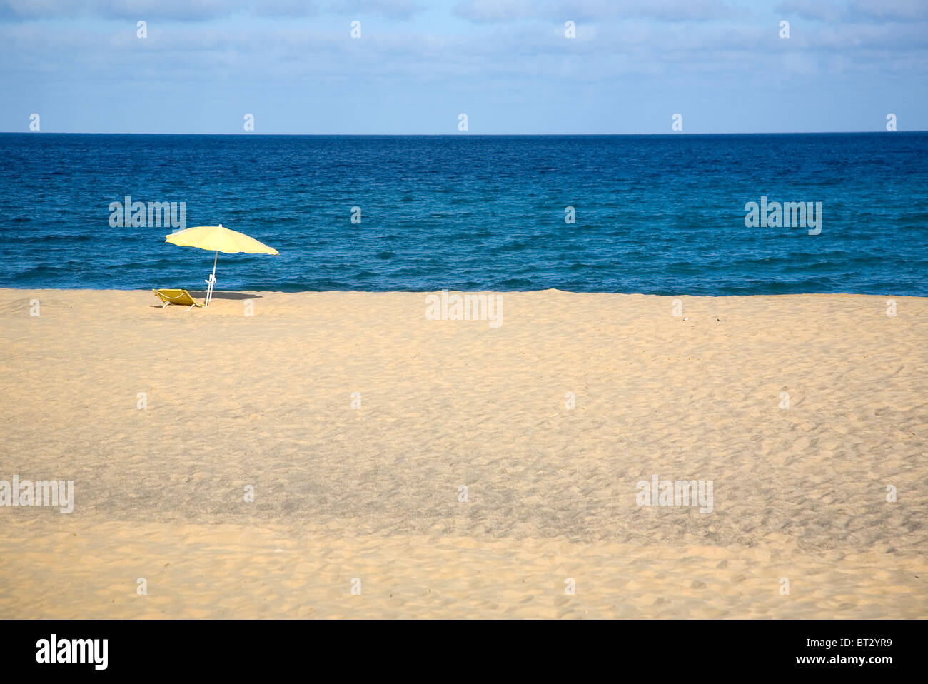 Porto Santo Beach Stock Photo