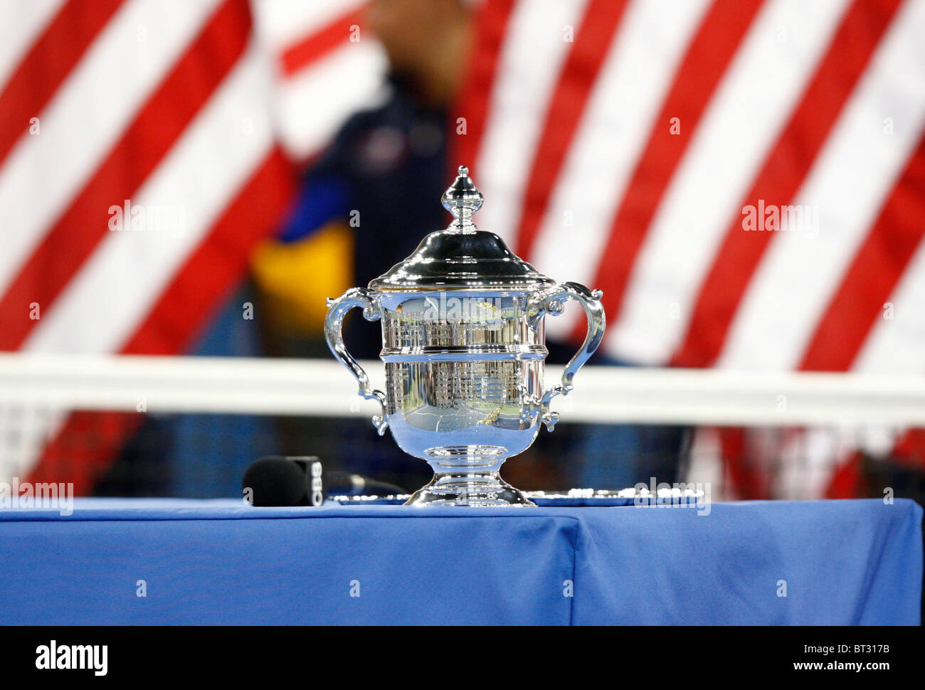 Trophy for the winner of the women's final at the US Open - Stock Image