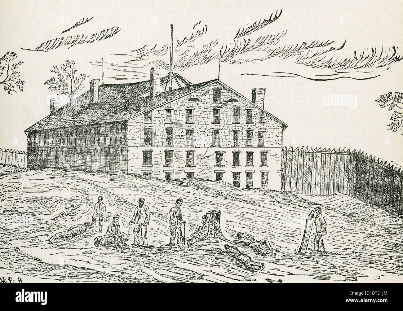 Libby Prison, which was built 1845-1852 in Richmond, Virginia, was used by the Confederates during the American - Stock Image