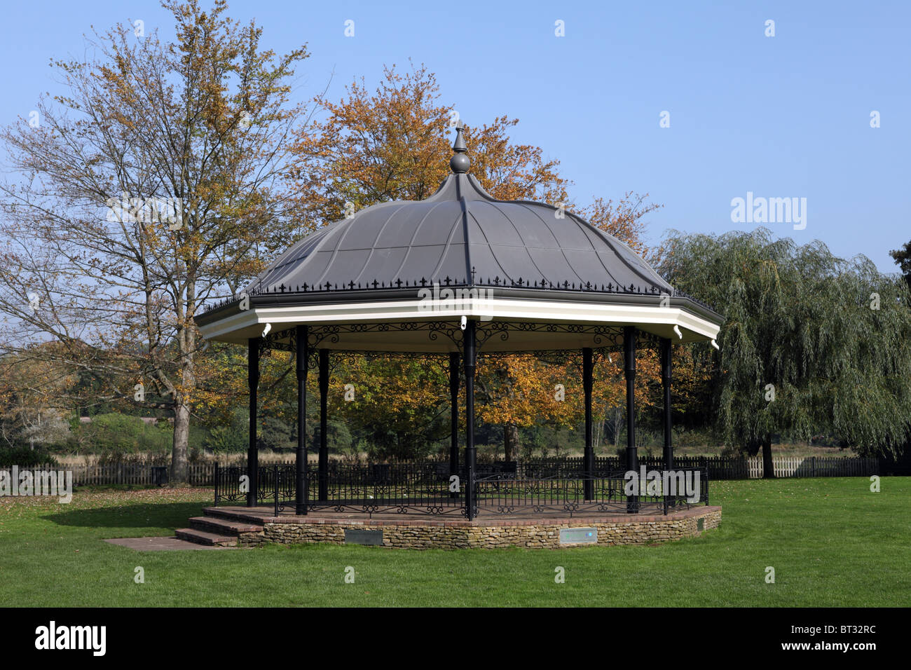 Bandstand at The Burys in Godalming, Surrey - Stock Image