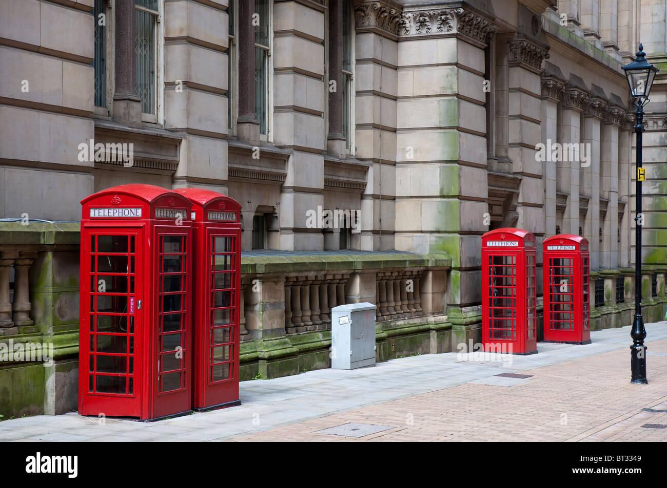 Telephome Kiosks in Eden Place, Birmingham City Centre, Birmingham, West Midlands, England, UK. - Stock Image