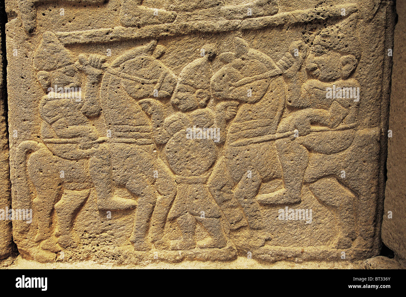 Hittite rock reliefs, Karatepe Aslantas Turkey. - Stock Image