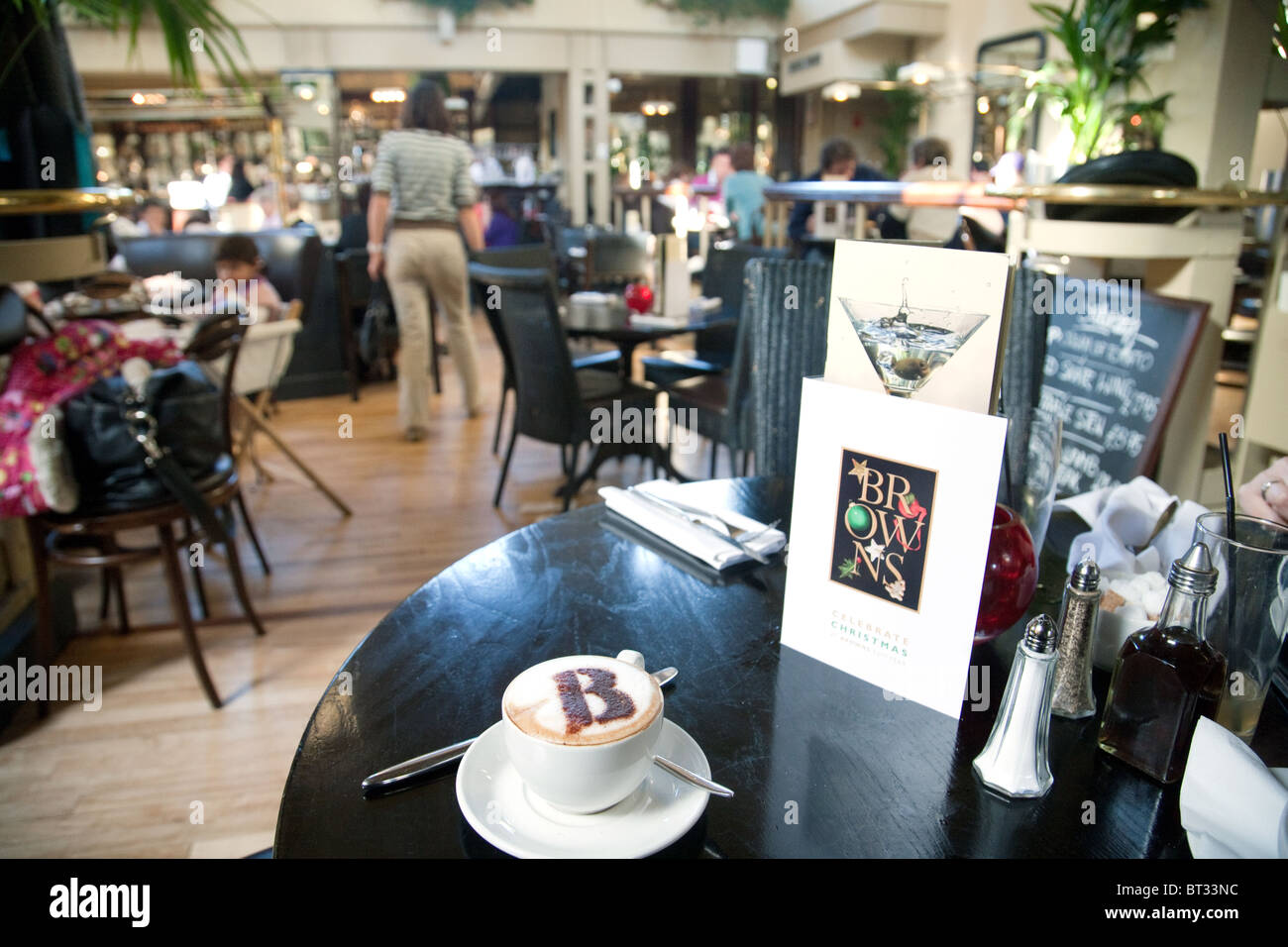 Inside Browns restaurant, bar and brasserie, Trumpington Road, Cambridge, UK - Stock Image