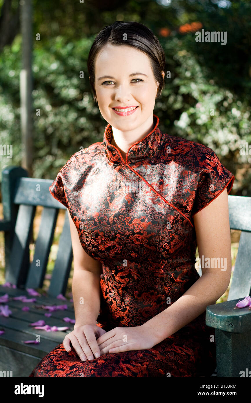 821e33dcc beautiful young woman in chinese dress Stock Photo: 32030984 - Alamy
