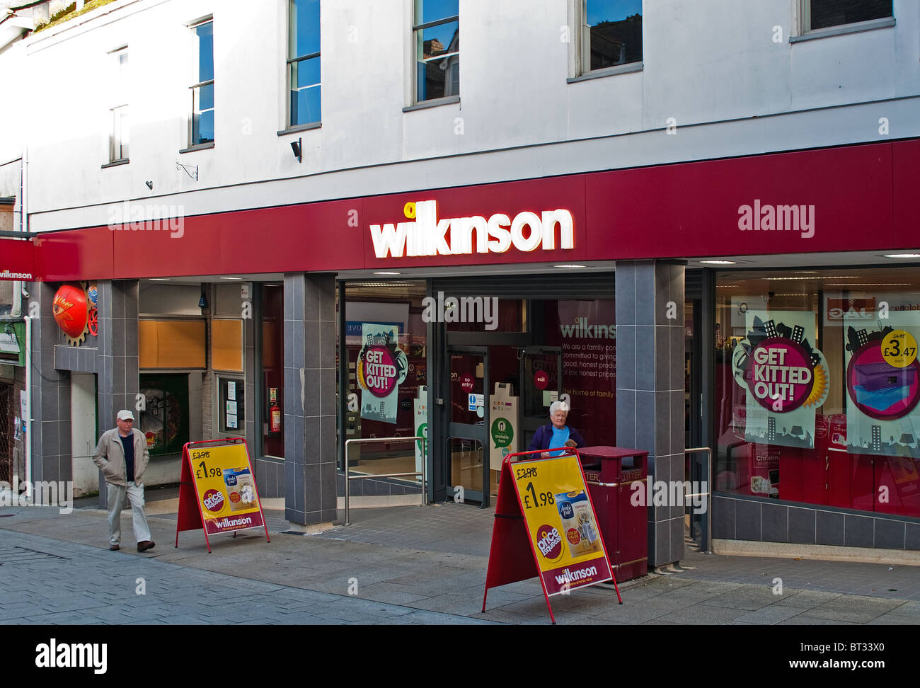 a wilkinson's discount store in camborne, cornwall, uk - Stock Image