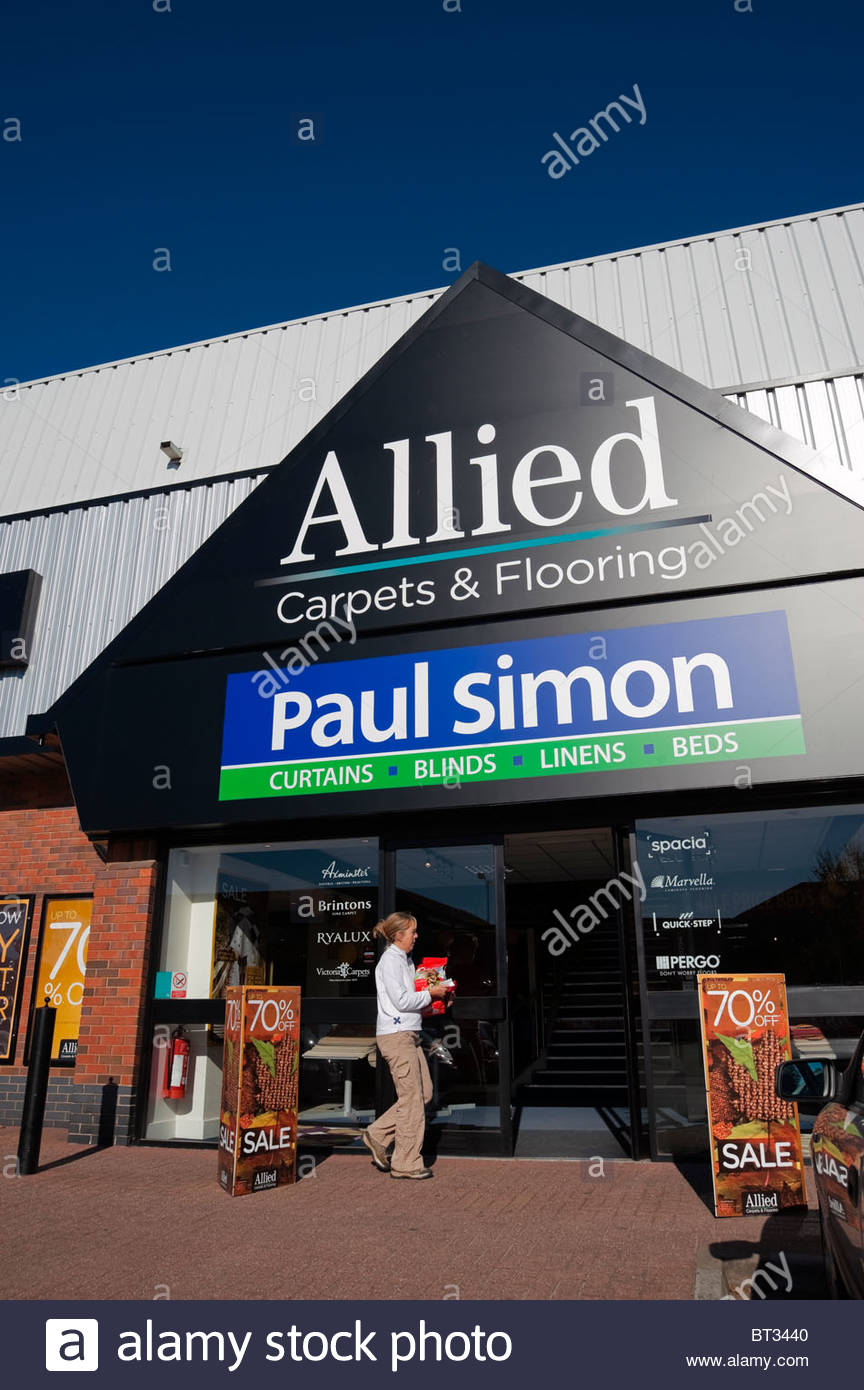 Allied Carpets & Flooring store retail village, Cheltenham, UK. - Stock Image