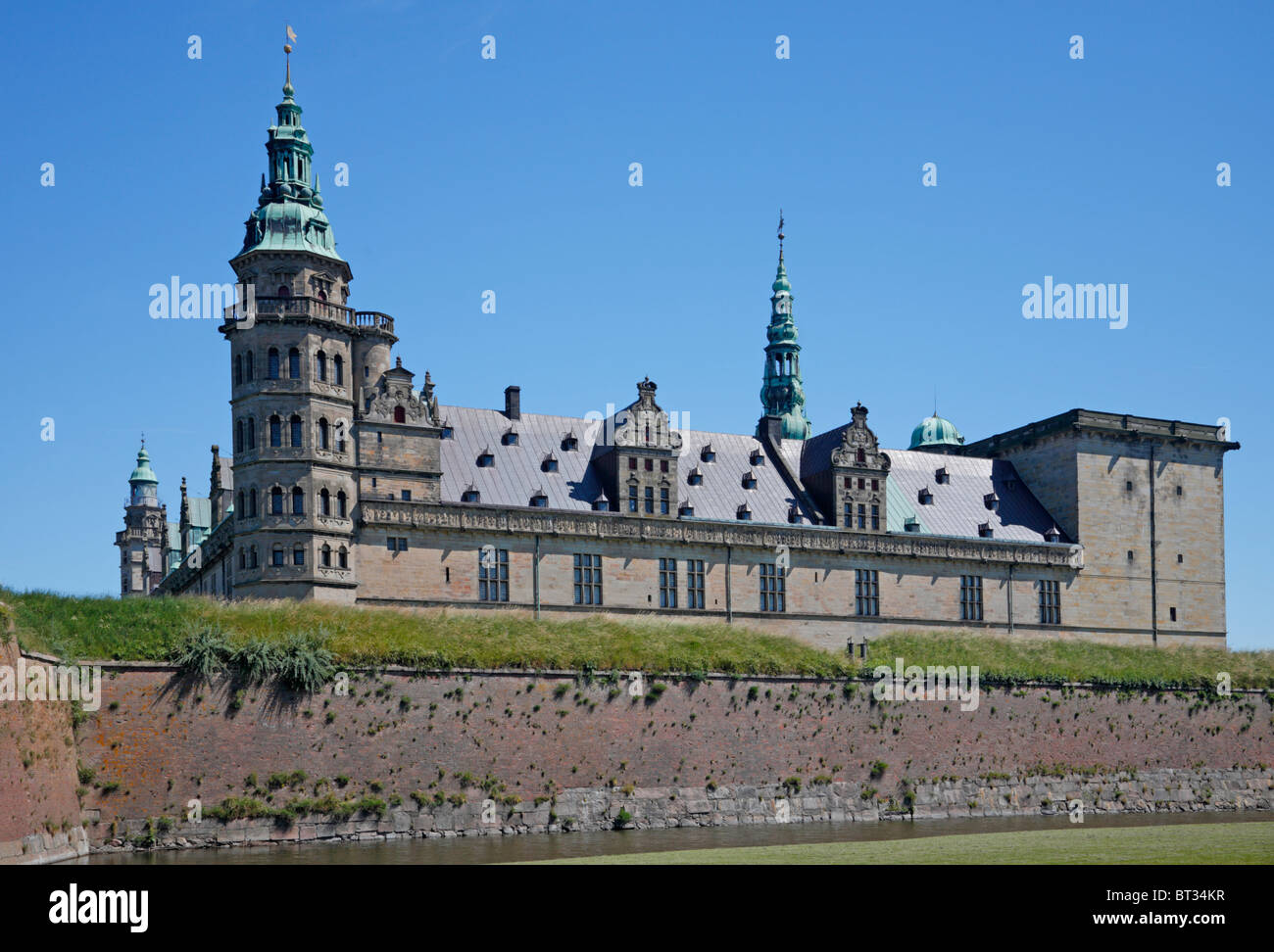 The renaissance castle Kronborg in Elsinore, Denmark - Stock Image