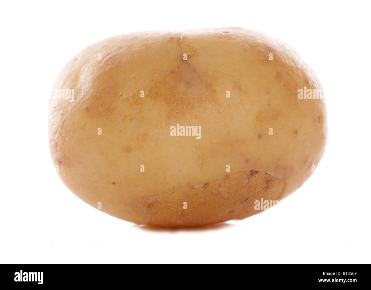Baby pearl potatoe studio cutout - Stock Image