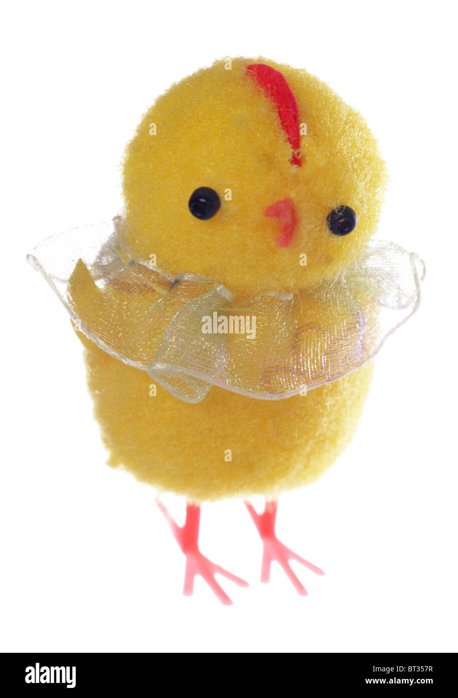 Easter Chick toy studio cutout - Stock Image