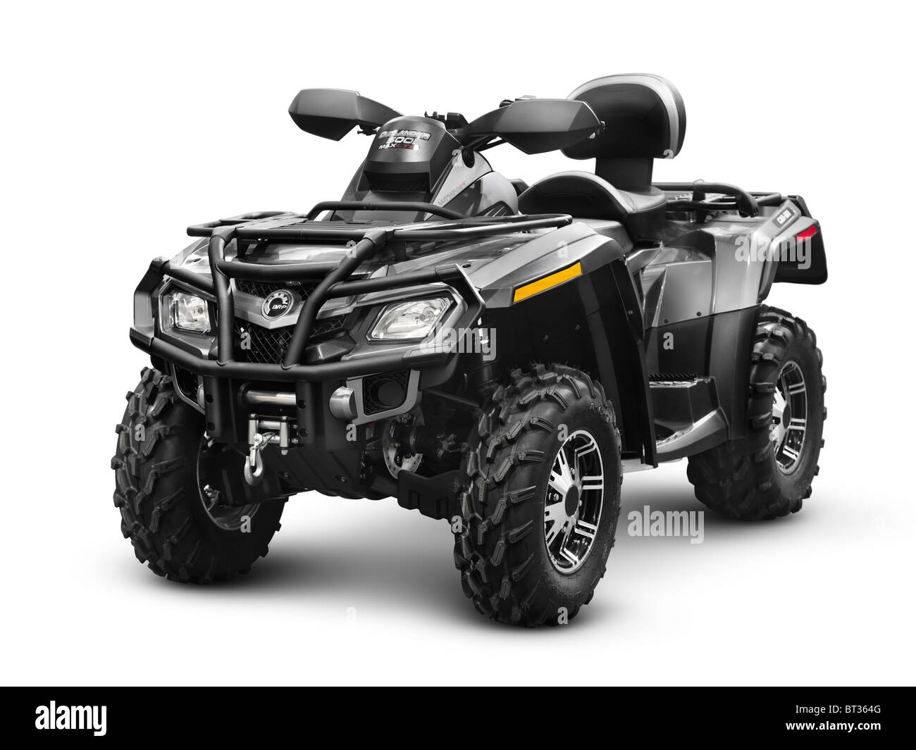 Can-Am BRP Outlander 500 ATV. Bombardier Recreational Products. Isolated with clipping path on white background. - Stock Image