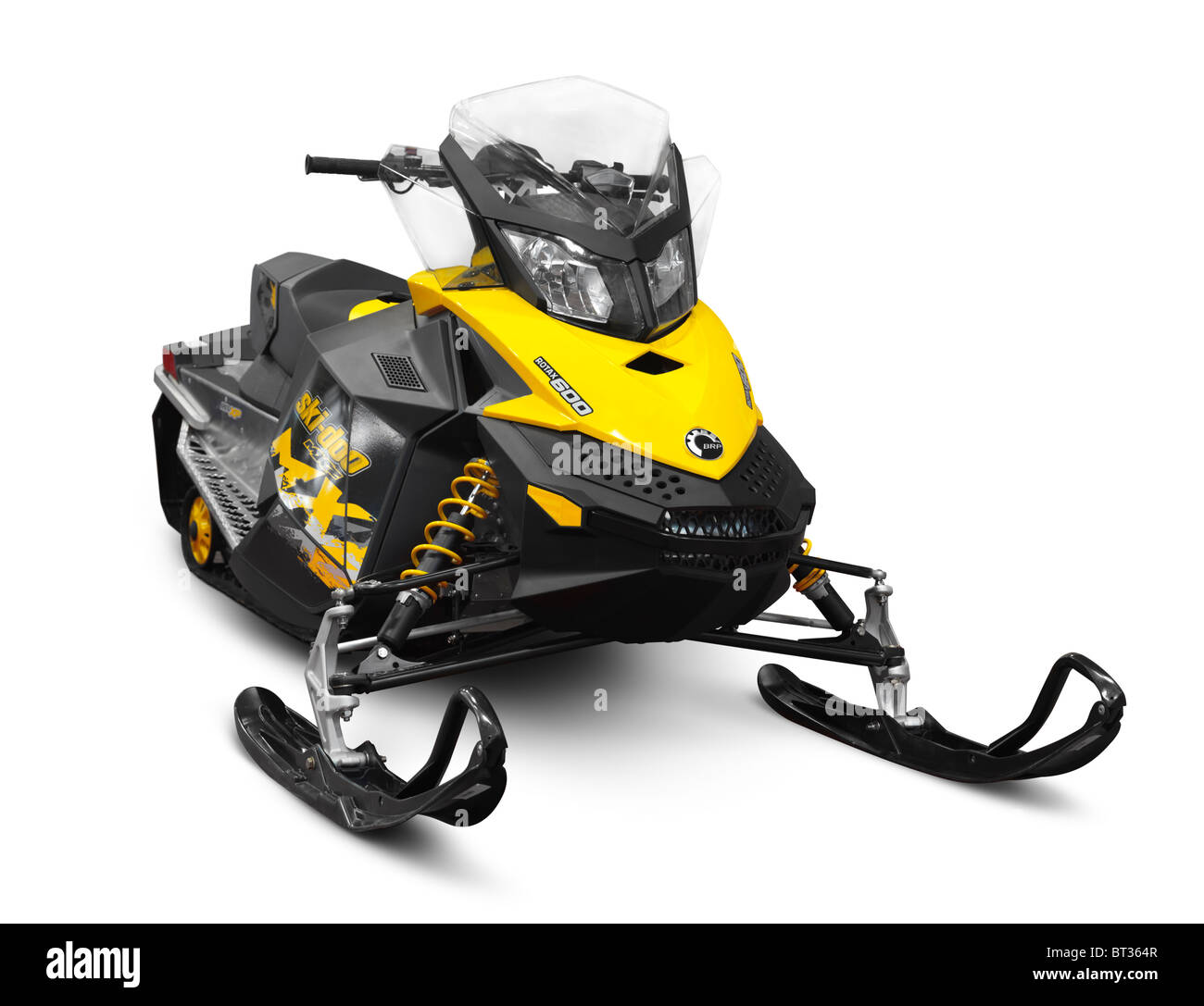 Bombardier Recreational Products BRP Ski-Doo MX Z Sport Snowmobile isolated on white background with clipping path - Stock Image