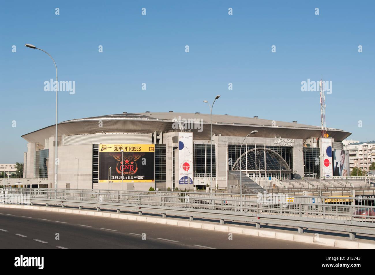 Belgrade Arena, the largest European multi functional indoor sport arena, Serbia - Stock Image