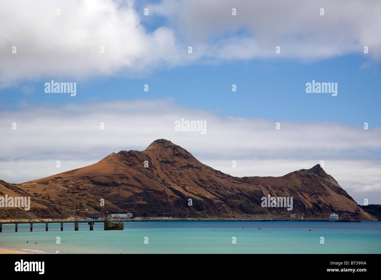 Porto Santo Headland and beach - Stock Image