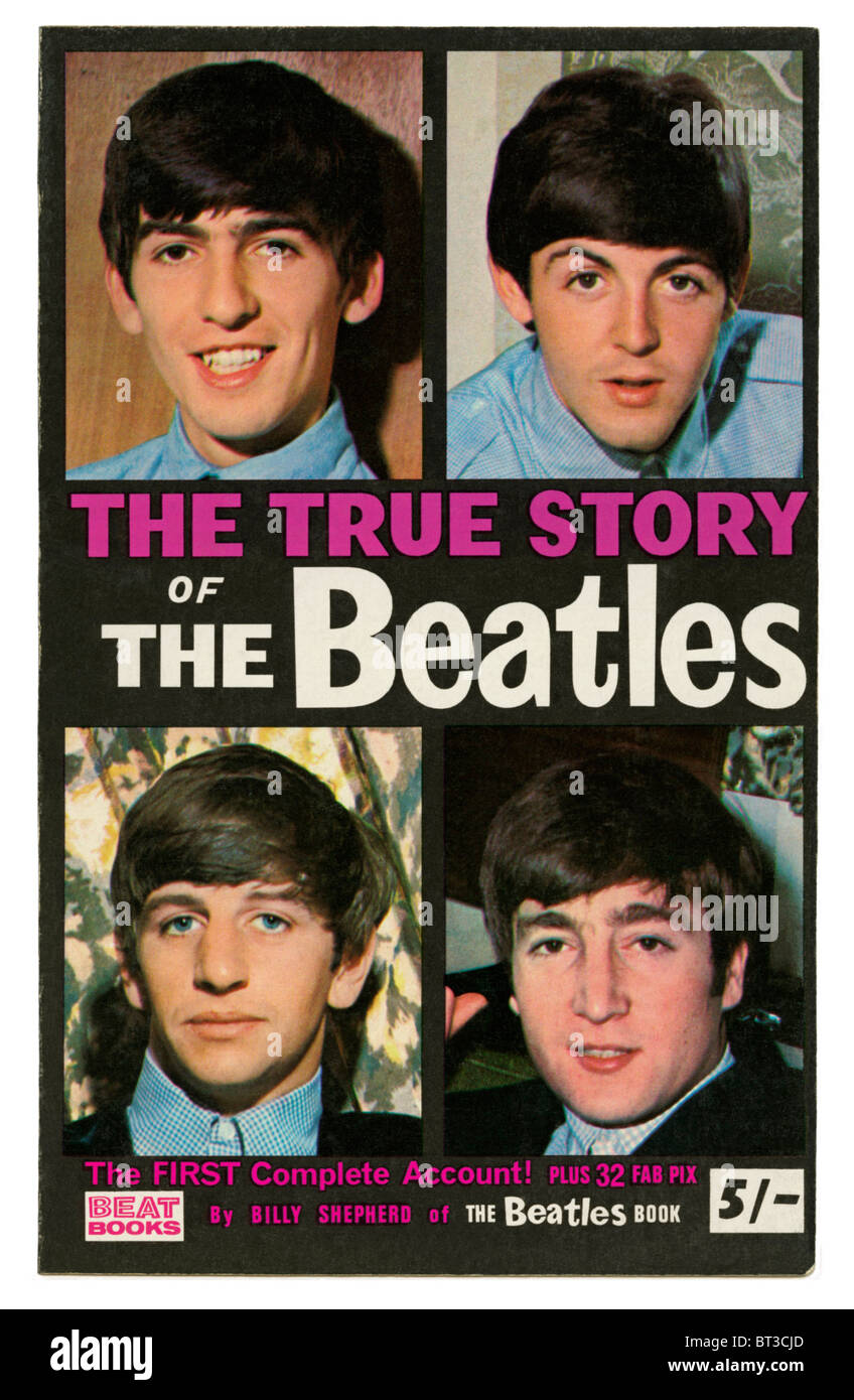 'The True Story of The Beatles', probably the first biographical book of the group and published in 1964 - Stock Image